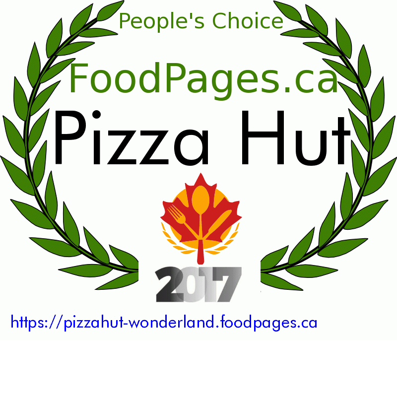 Pizza Hut FoodPages.ca 2017 Award Winner
